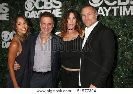 LOS ANGELES - OCT 10:  Christel Khalil, Christian LeBlanc, Stacy Haiduk, Sean Carrigan at the CBS Daytime #1 for 30 Years Event at the Paley Center For Media on October 10, 2016 in Beverly Hills, CA