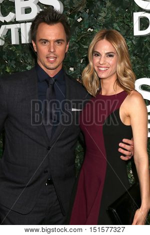 LOS ANGELES - OCT 10:  Darin Brooks, Kelly Kruger at the CBS Daytime #1 for 30 Years Exhibit Reception at the Paley Center For Media on October 10, 2016 in Beverly Hills, CA