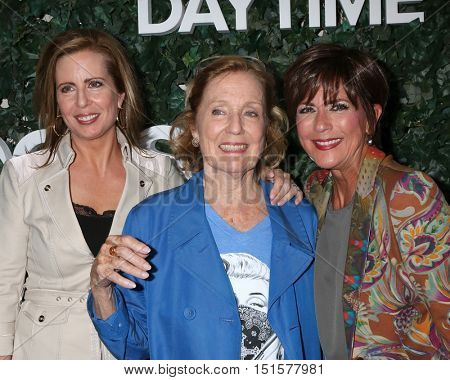 LOS ANGELES - OCT 10:  Martha Byrne, Elizabeth Hubbard, Colleen Zenk at the CBS Daytime #1 for 30 Years Exhibit Reception at the Paley Center For Media on October 10, 2016 in Beverly Hills, CA