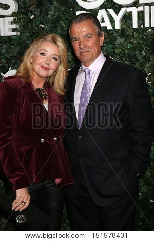 LOS ANGELES - OCT 10:  Melody Thomas Scott, Eric Braeden at the CBS Daytime #1 for 30 Years Exhibit Reception at the Paley Center For Media on October 10, 2016 in Beverly Hills, CA