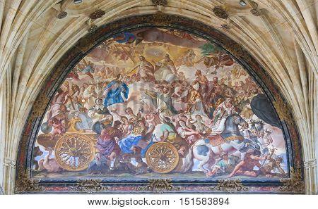 Fresco In The Convento De San Esteban In Salamanca, Spain