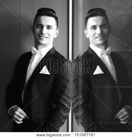 Elegant Man Smiles