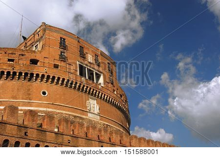 Castel Sant'Angelo (Castle of Holy angel) renaissance keep in the center of Rome