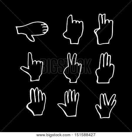 an images of doodle hand icon illustration design
