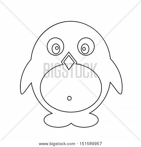 an images of Pinguin icon illustration design