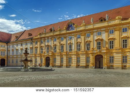 Melk Abbey is a Benedictine abbey above the town of Melk Lower Austria Austria. Courtyard