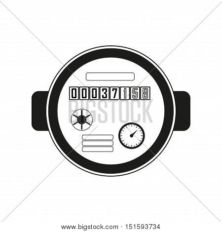 Water meter. Vector illustration of watermeter in flat design.
