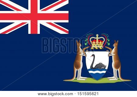 Flag of Western Australia (WA) is a state occupying the entire western third of Australia.