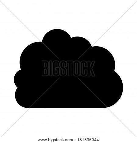 silhouette cloud in cumulus shape vector illustration