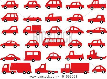 Vehicle / Car Illustration Collection , Car Icon Set
