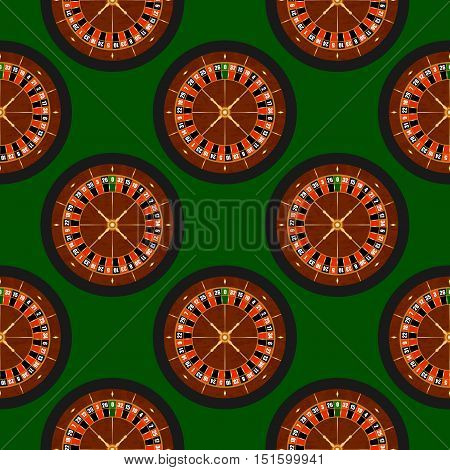 Vector Seamless Roulette Background. Pattern in swatches panel.