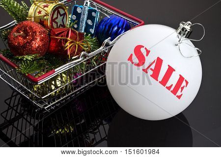 Christmas Toys In The Food Basket