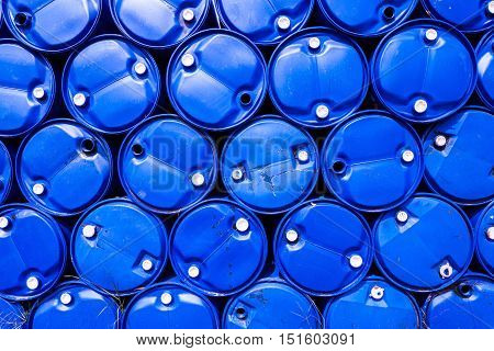 Stack of gallon water bottles use for background