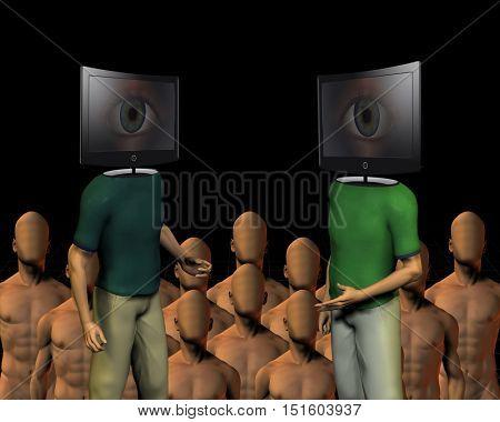 TV Head  3D Render