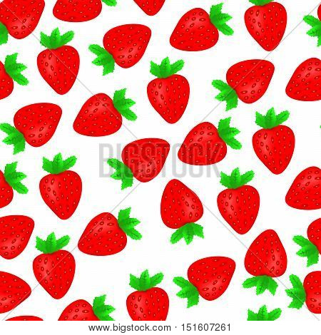 Red Strawberries Seamless Pattern