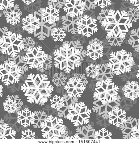 Snowflakes Pattern 3D. Snow Texture. Winter Background. Snowfall Ornament