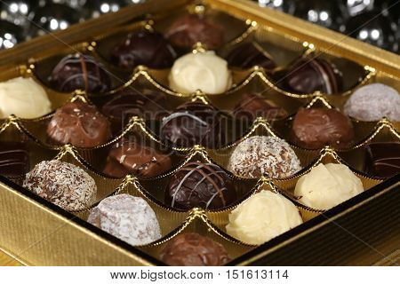 Dark and white Chocolate Candies for Christmas