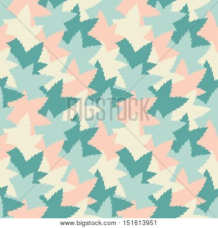 Seamless pattern background with pastel camouflage leaf like colored pieces. Vector illustration eps