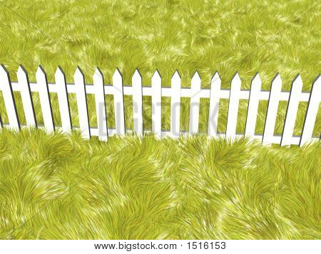 Fence On A Solar Summers Day