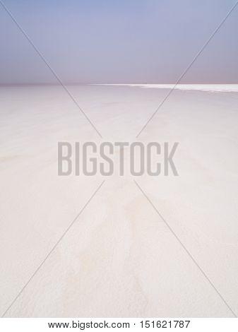 Salt desert and lake in the Afar Region Danalkil Depression Ethiopia.