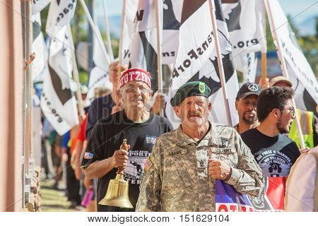 Veterans And Supporters At Border Protest March