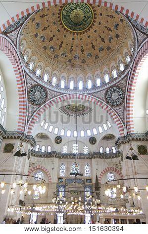 Suleymaniye Mosque (suleymaniye Camisi) In Istanbul, Turkey