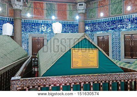 Tomb Of Sultan Suleiman I, In The Süleymaniye Mosque. Istambul, Turkey