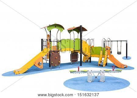 Children's playground in a park built for the development of people and Entertainment