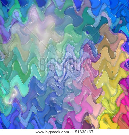 Abstract coloring background of the abstract gradient with visual mosaic, hexagon, lighting ,spherize ,pinch,plastic wrap and wave effects