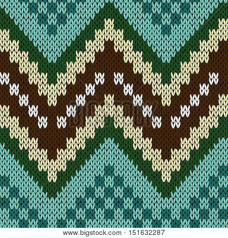 Seamless Zigzag Knitting Pattern