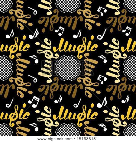 Abstract music seamless pattern, vector illustration for your design, EPS10