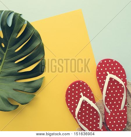 Beach Summer Holiday Vacation Flip Flop Sandals Relaxation Concept