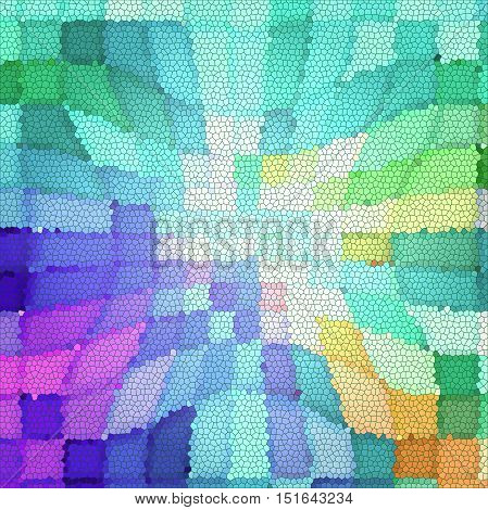 Abstract coloring background of the pastels gradient with visual mosaic, pinch and stained glass effects
