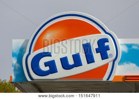 Gulf Oil Exterior Sign And Logo
