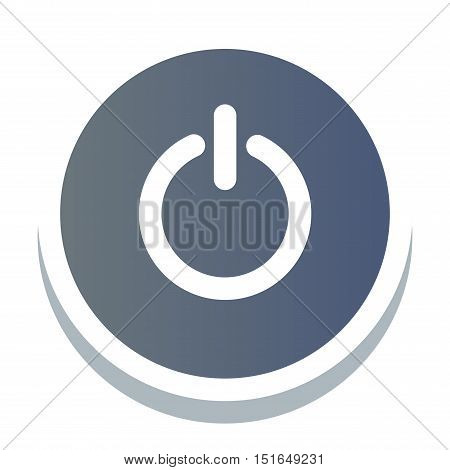 Web blue power element site button and vector shop button isolated. Design sign element button and label ui ux design. Web site button graphic