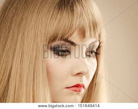 Angry Dissatisfied Elegant Woman Lady.