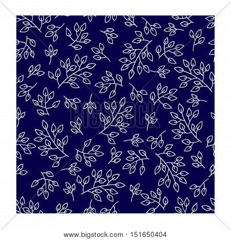Beautiful vintage hand drawn leaf seamless pattern. Cute artistic decoration leaves seamless pattern background style. Fashion textile fabric leaves seamless pattern decoration floral texture.