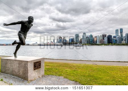 Hdr Rendering Of Hallelujah Point At Stanley Park, Vancouver