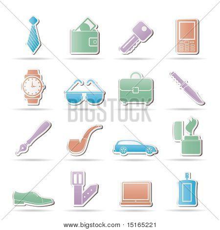 Man Zubehör Symbole und Objekte