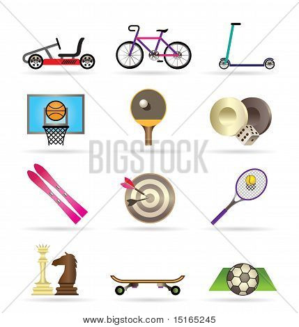 sports equipment and objects icons