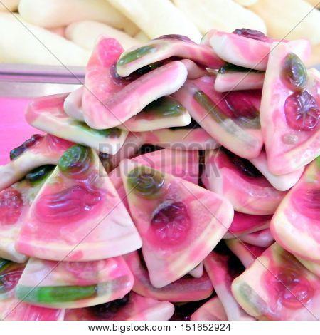 Candy on bazaar in Tel Aviv IsraelJanuary 12 2011