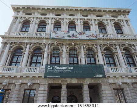Ca Rezzonico In Venice