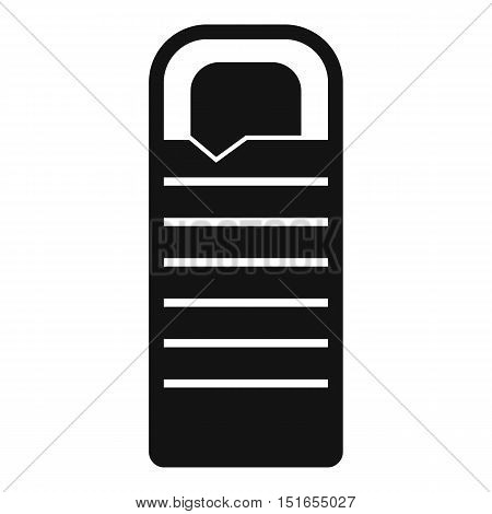 Sleeping bag icon. Simple illustration of sleeping bag vector icon for web