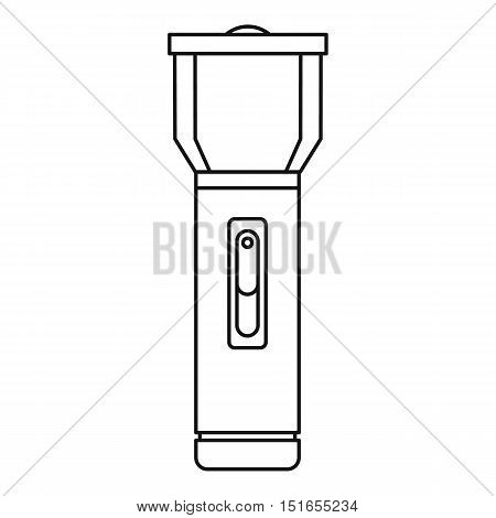 Flashlight icon. Outline illustration of flashlight vector icon for web