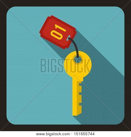Hotel key icon. Flat illustration of hotel key vector icon for web