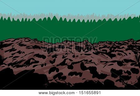 Rocky Slag Heap Mine Background