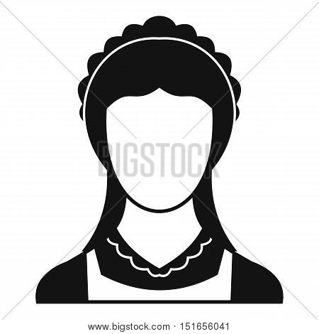 Cleaning household service maid icon. Simple illustration of maid vector icon for web