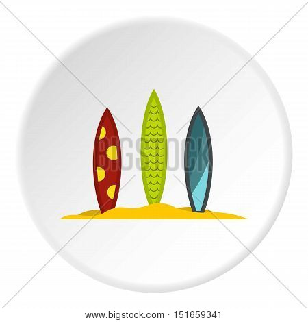 Surfboards icon. Flat illustration of surfboards vector icon for web design