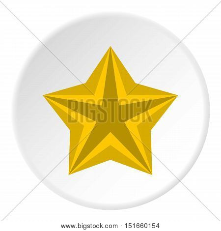 Convex star icon. Flat illustration of convex star vector icon for web