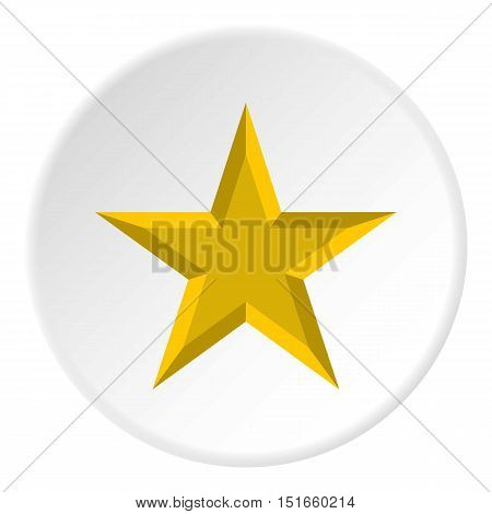 Geometric figure of celestial star icon. Flat illustration of geometric figure of celestial star vector icon for web